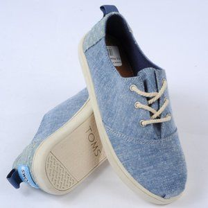 Toms Kids Girls Canvas Loafers Size Y13 Blue